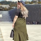 Poly Lulu 經典純色細肩帶魚尾洋裝-軍綠【92260042】