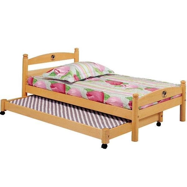 床架 床台 AT-584-45 白木3尺子母床 (不含床墊) 【大眾家居舘】