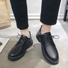 夏季英倫皮鞋休閒商務正裝黑色小皮鞋男韓版潮流透氣青年上班西裝 設計師生活百貨