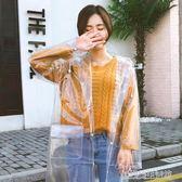 韓國時尚女透明雨衣成人徒步戶外旅行釣魚雨披男eva環保非一次性