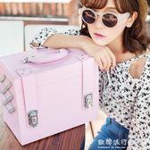 化妝箱手提專業大號多層大容量便攜美容美甲紋繡工具箱跟妝箱igo    歐韓流行館