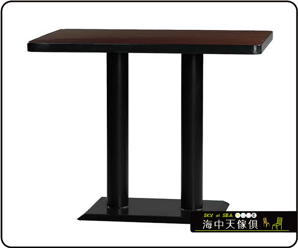 {{ 海中天休閒傢俱廣場 }} C-99 摩登時尚 餐桌系列 453-13 2X4尺美耐板餐桌/烤黑/烤銀腳(顏色可挑選)