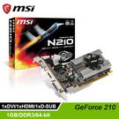 【msi 微星】GeForce 210 ...