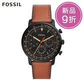 FOSSIL GOODWIN 淺棕色皮革三眼手錶 男 FS5501