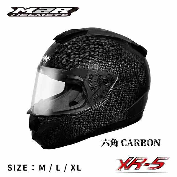 M2R安全帽,碳纖維安全帽,XR5-SP,六角碳纖維