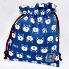 藍色 柴犬 100%綿質束口袋 日本製