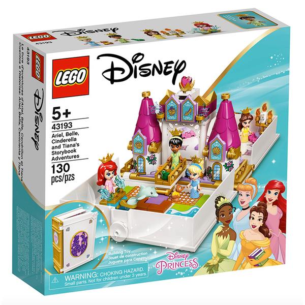 LEGO樂高 Disney系列 Ariel,Belle,Cinderella,Tiana s Storybook Adventure_LG43193