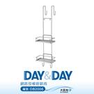 【DAY&DAY】不鏽鋼方形淋浴拉門雙層掛式置物架_ST2295-2