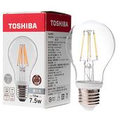 日本 TOSHIBA 東芝照明 7.5W LED球型燈絲燈泡 晝光色