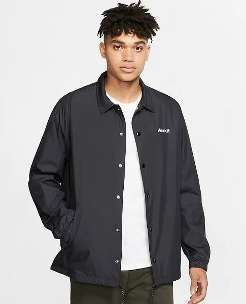 Hurley  M SIEGE COACHES JACKET BLACK  夾克-(男)