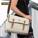 【TROOP】傳統簡約HERITAGE單肩包/TRP0410WS(米白色)