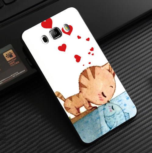 三星 Samsung Galaxy J5 (2015) J500  手機殼 軟殼 保護套 兩個世界 貓戀魚