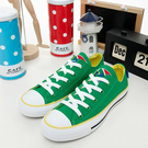 CONVERSE 短筒帆布鞋--ALL STAR--南非--綠黃--1103U170297-- 女--UK 3(22)號--NG商品
