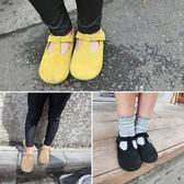可愛秋季新款女童復古真皮單鞋小女孩公主鞋小童寶寶軟底皮鞋潮