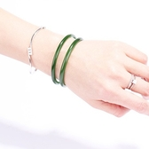 天然和田碧玉圓條手鐲 天然菠菜綠玉鐲 玉石手鐲圓條女款手鐲