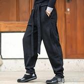夏季中國風男褲子麻布亞麻休閒褲寬鬆大碼小腳哈倫長褲棉麻燈籠褲 有緣生活館