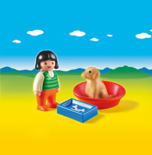 playmobil 123series 小狗狗和女孩_PM06796
