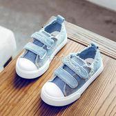 帆布鞋童 海綿寶寶低筒兒童帆布鞋春秋男女童鞋子板鞋2018新款韓版牛仔布鞋 珍妮寶貝
