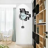 客廳掛鐘時鐘時尚家用個性簡約現代掛表靜音創意鐘表 igo生活主義