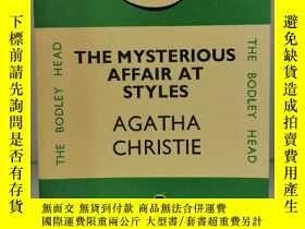 二手書博民逛書店阿加莎·克裏斯蒂罕見《 斯泰爾斯莊園奇案 》The Mysterious Affair at Styles by