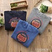 童裝男童連帽連帽T恤2019秋季新款加厚套頭衫兒童中大童寶寶加絨外套-ifashion