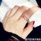 蝴蝶開口戒網紅潮人時尚個性學生CHIC極簡食指指環冷淡風戒指女  (橙子精品)
