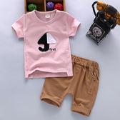 2018夏裝套裝嬰幼兒童衣服0-1-2-3-4-5歲男童夏天短袖新款寶寶三角衣櫥