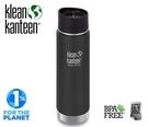 丹大戶外 美國【Klean Kanteen】20盎司寬口保溫不鏽鋼水壺 K20VWPCC-SB 消光黑