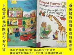 二手書博民逛書店Richard罕見Scarry s Best Word Book Ever   El Mejor Libro De