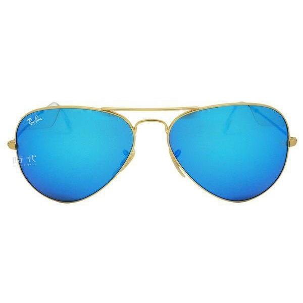 【台南 時代眼鏡 RayBan】雷朋 太陽眼鏡墨鏡 RB3025 112 17 AVIATOR 飛官款墨鏡 水銀藍 金框 58mm