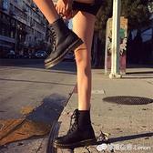 八孔馬丁靴女英倫風新款秋單靴百搭帥氣機車靴厚底內增高短靴 雙十二全館免運
