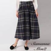 ❖ Autumn ❖ 定番配色格紋腰帶環扣裝飾長裙 (提醒➯SM2僅單一尺寸) - Sm2