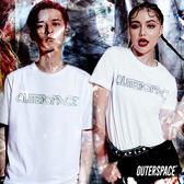 OUTER SPACE 搖滾金屬LOGOT (白)