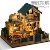 那家diy小屋別墅愛琴海手工小房子建筑模型女孩玩具創意生日禮物