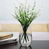 店長推薦 小清新創意簡約透明玻璃花瓶水培玻璃綠蘿插花器富貴竹客廳擺件