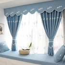 韓式田園遮光窗簾現代簡約客廳臥室飄窗窗簾...