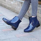 雨靴 新款時尚短筒雨鞋四季穿雨靴成人耐磨防滑防水水鞋女士水靴雨鞋女 coco衣巷