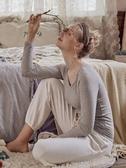 胸墊T恤純棉帶胸墊長袖t恤女免穿文胸內衣運動瑜伽家居打底衫外穿上衣秋 果果生活館