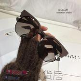 墨鏡潮人不規則半框太陽鏡偏光大框