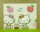 【震撼精品百貨】Hello Kitty 凱蒂貓~卡片-蘋果黃
