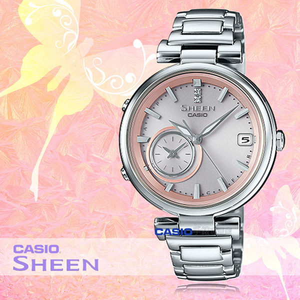 CASIO 卡西歐 手錶專賣店 SHEEN SHB-100D-4A 女錶 不鏽鋼錶帶  藍牙 太陽能 雙時  節能 防水  日曆 日期