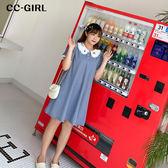 中大尺碼 甜美娃娃領洋裝~共兩色 - 適XL~4L《 68395 》CC-GIRL