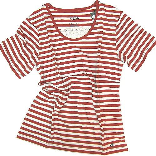 【波克貓哈日網】日系短袖T恤◇CLOTHES TRUCK◇《紅白色條紋》