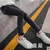 女童牛仔褲 2019秋冬季新款中大童洋氣兒童彈力長褲子 BT14269『優童屋』