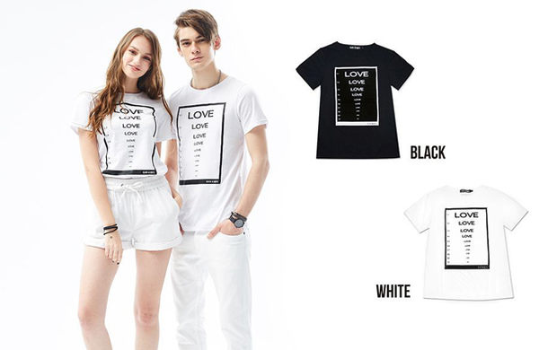 Black & White Voice T-shirt-盲目的愛(Black)