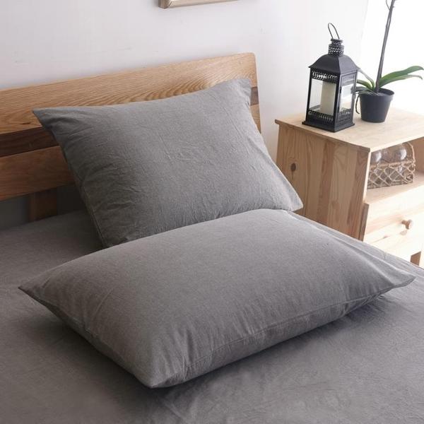 水洗棉純棉枕套一對拍2全棉成人大號枕芯套 單人枕用枕頭套女 挪威森林