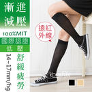 遠紅外線14-17mm/Hg小腿襪│輕壓...
