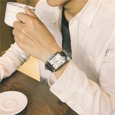 全館83折 男手錶男學生潮流大氣方形復古皮帶休閑氣質男錶