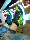 韓版兒童七彩發光鞋led燈鞋男童夜光鞋翅膀USB充電熒光鞋運動鞋潮