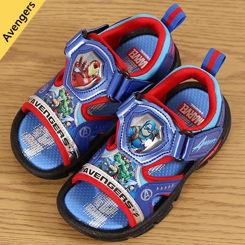 男童 MARVEL 復仇者聯盟 鋼鐵人 美國隊長 閃燈魔鬼氈 運動涼鞋 電燈涼鞋 正版授權 MIT製造 59鞋廊